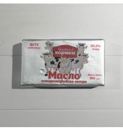 Масло солодковершкове екстра 82,5%, 180g - Торгова марка «Українські корівки»
