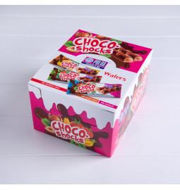 Вафлі «Choco-Shocks» зі смаком фундука, 40g / 600 g - Торгова марка «Polus»