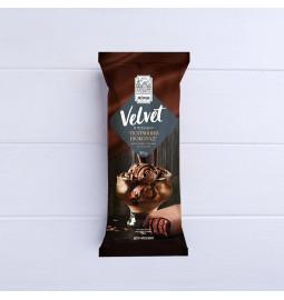 Морозиво ескімо пломбір «Velvet» шоколадний з наповнювачем «Шоколад» у чорній шоколадній  глазурі, 13% в 80g (г) - Торгова марка «Лімо»