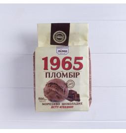 Морозиво пломбір «1965» 600g, 12%, морозиво шоколадне у паперовому пакеті - Торгівельна марка «Лімо»