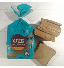 Хліб для сендвічів пшенічно-житний, заморожений, 510g - Торгівельна марка «Живий злак»