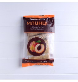 Млинці «З абрикосом та персиком», фасовані у пакеті, 350g (6 шт.) - Торгівельна марка «SmaCom»
