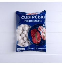 Пельмені «Сибірські», свинина та яловичина, заморожені, 800g - ТМ «SmaCom»